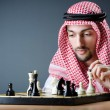 Chess player playing his game - Foto Stock