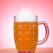 Beer glass on the table — Stock Photo #9699656