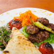 Meat cuisine - kebab served in plate — Stock Photo #9699757