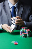Man playing in the casino — Fotografia Stock