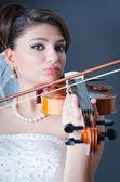 Beautiful bride in studio shooting — Stock Photo