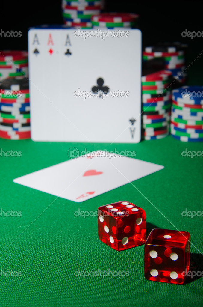 Casino concept with chips and cards  Stock Photo #9698702