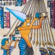 Fragment of egyptian papyrus — Stock Photo #9815790