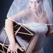 Beautiful bride in studio shooting — Stock Photo