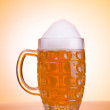 Beer glass on the table — Stock Photo