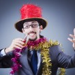 Magiciin business suit — Stock Photo #9817494