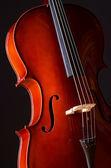 Music Cello in the dark room — Stock Photo