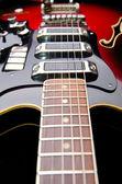 Close up of music guitar — Stock Photo