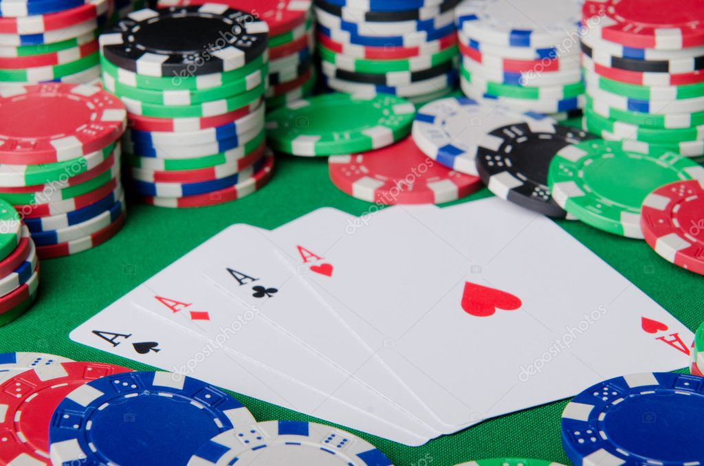 Casino concept with chips and cards — Stock Photo #9815938