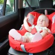Foto Stock: Baby in car