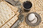 Маца хлеб для празднования Пасхи — Стоковое фото