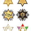Illustration with stars of david — Stock Vector #9056102