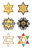 Illustration with stars of david — Stock Vector