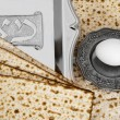Matza bread for passover celebration - Foto de Stock