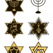 Royalty-Free Stock Vektorov obrzek: Vector star of david