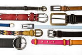 Belts on white background — Stock Photo