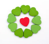 Hearts composition — Stock Photo