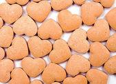 Turuncu kalpleri arka plan — Stok fotoğraf