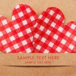 Holiday card with hearts - Stock Photo