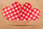 Holiday card with hearts — Foto de Stock