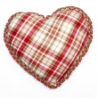 Heart with tablecloth texture — Stock Photo