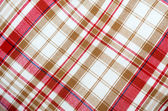 Red table cloth background — Stock Photo