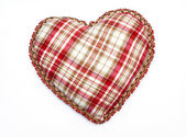 Corazón con textura de mantel — Foto de Stock