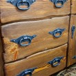 Drawers with metal handles - Zdjęcie stockowe