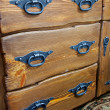 Drawers with metal handles - Stockfoto
