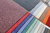 Samples of carpets — Stock fotografie