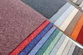Próbki dywany — Zdjęcie stockowe