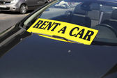 Rent a car — Stock Photo