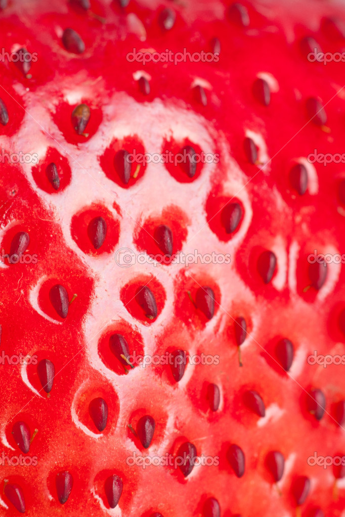 Extreme macro red strawberry, background — Foto Stock #9097511
