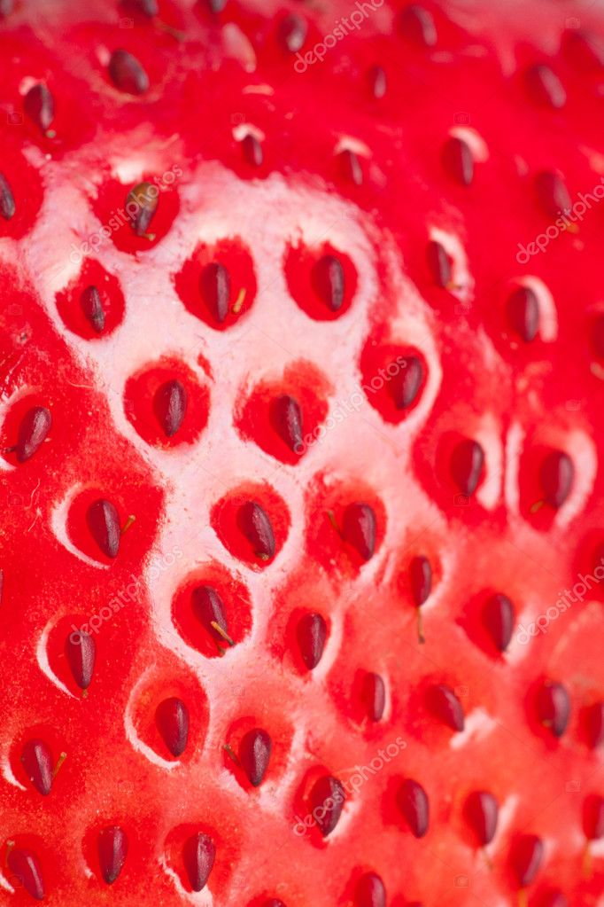 Extreme macro red strawberry, background — Stock fotografie #9097511