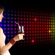 Disco girl — Stock Photo