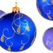 Foto Stock: Blue christmas balls