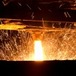 Molten steel pouring — Stock Photo #9547477
