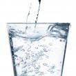 Water poured into glass — Stock Photo