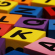 Colorful foam letter blocks — Stock Photo #9548068