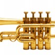 Isolated trumpet - Stock Photo