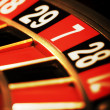 Casino roulette, seven - Stock Photo