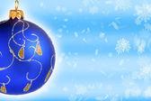 Bola de natal azul — Fotografia Stock