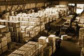 Finished-products storage area — Stock Photo