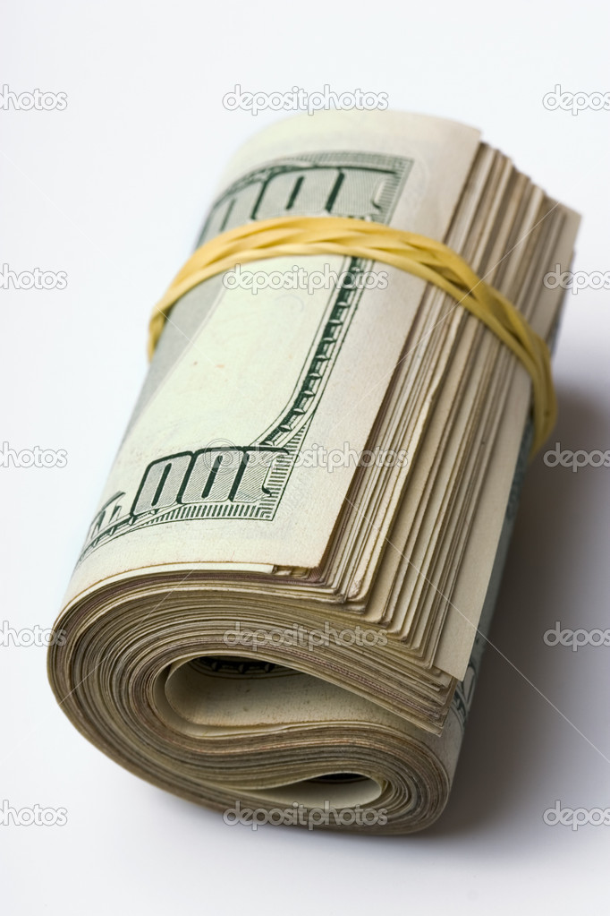 Close-up of a 100 dollar banknotes  Stock Photo #9546593