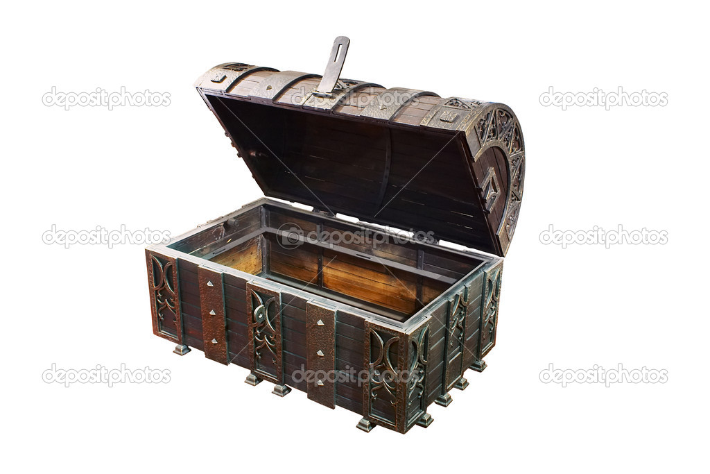 Empty treasure Chest  Stock fotografie #9547429