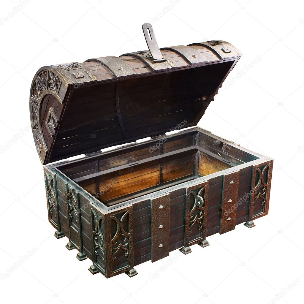 Empty treasure Chest  Stock Photo #9547488
