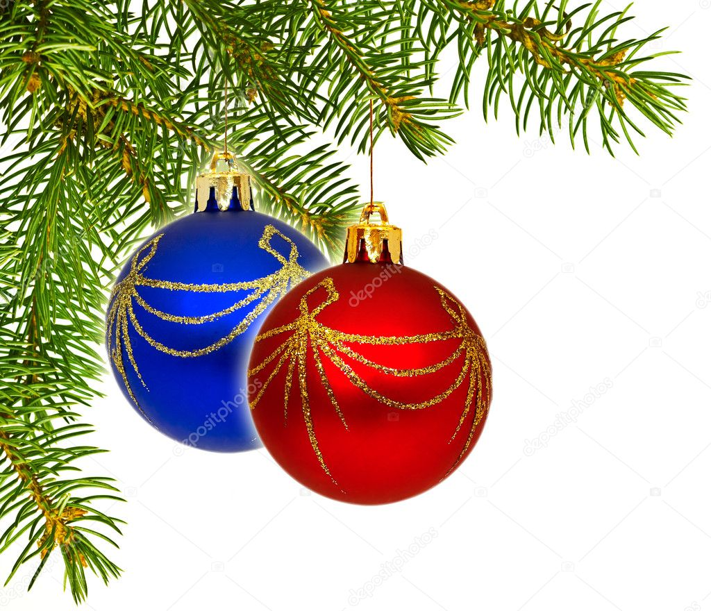 Close up view of the Christmas ornament isolated on white — Stock Photo #9548660