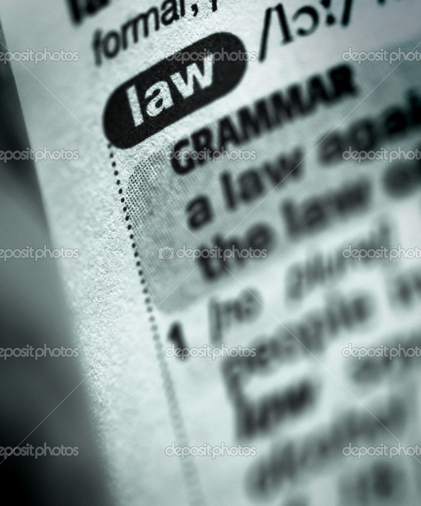 Dictionary definition of word law — Stock Photo #9549565