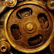 Stock Photo: Gears from old mechanism