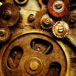 Gears from old mechanism — Stock Photo #9551663
